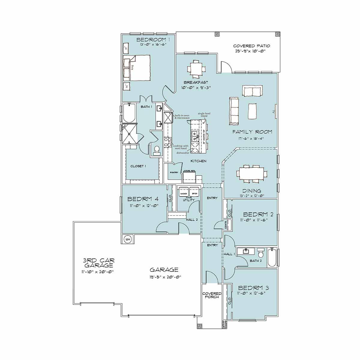 Home Builders Belton TX | Holly Floor Plan